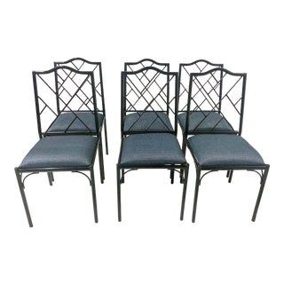 Chippendale Style Dining Chairs, Set of Six For Sale