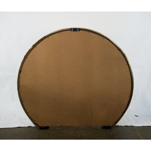 Silver Mid-Century Modern Round Mantle Mirror For Sale - Image 8 of 9