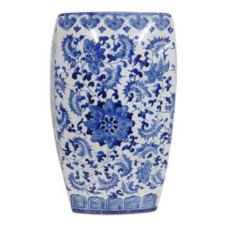 Chinese Porcelain Blue & White Garden Stool For Sale