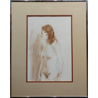 Jo Kotula 1960s Sketch of a Beautiful Nude Female -Painting For Sale
