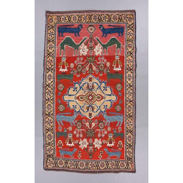 Qaashqai Wool Rug - ′4″ × 7′6″ For Sale - Image 4 of 4