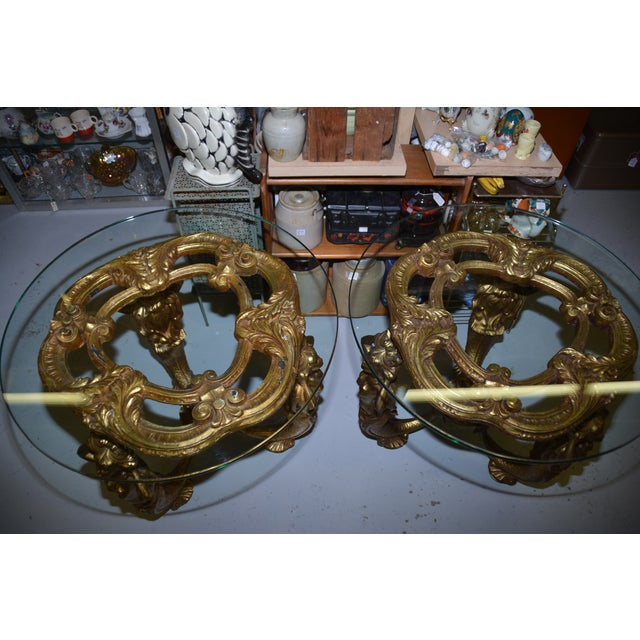 Vintage Gold Gilded Mermaid Side Tables - A Pair - Image 6 of 11
