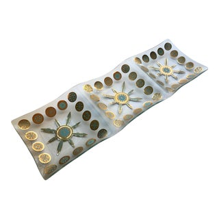 Mid Century Modern Mid/Mod Geometric Three Plate Serving Tray