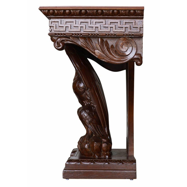 American Neoclassical Hand-Carved Eagle Console Table - Image 6 of 7