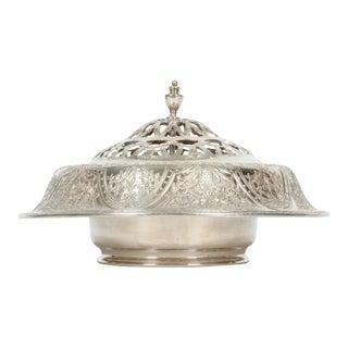 Vintage Silver Plate Floral Table Centerpiece For Sale
