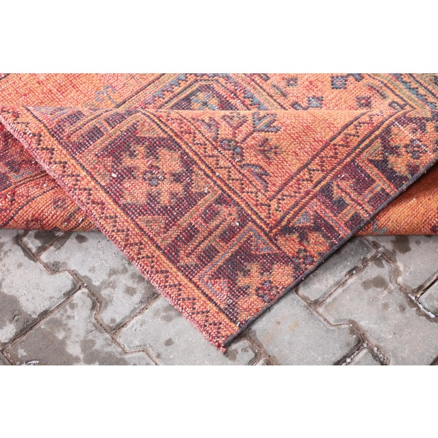 """Textile 1960's Vintage Turkish Hand-Knotted Wide Runner Rug - 4'1"""" X 11'5"""" For Sale - Image 7 of 11"""