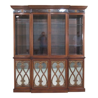 E. J. Victor Mahogany Breakfront Cabinet For Sale