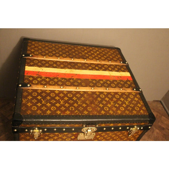 Red Louis Vuitton Cube Steamer Trunk For Sale - Image 8 of 13