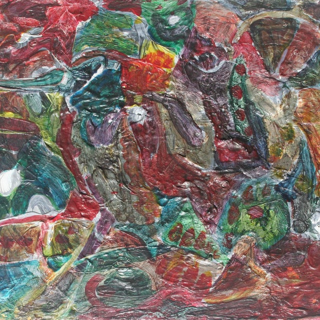 Contemporary Original Vintage Abstract Painting For Sale - Image 3 of 5