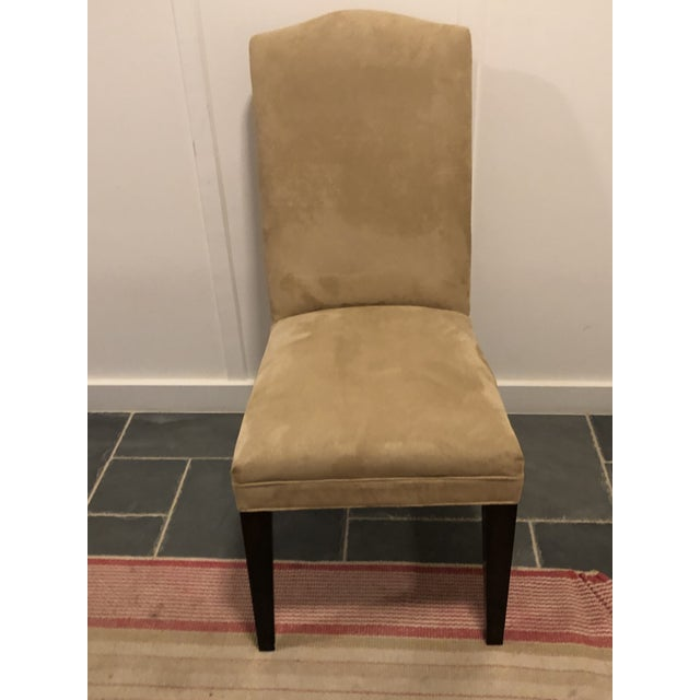 2010s Mitchell Gold / Bob Williams Microsuede Parsons Dining Chair For Sale - Image 5 of 10