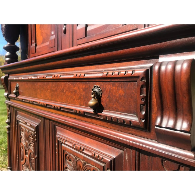Art Nouveau Walnut Hutch by Berkey and Gay For Sale - Image 11 of 12