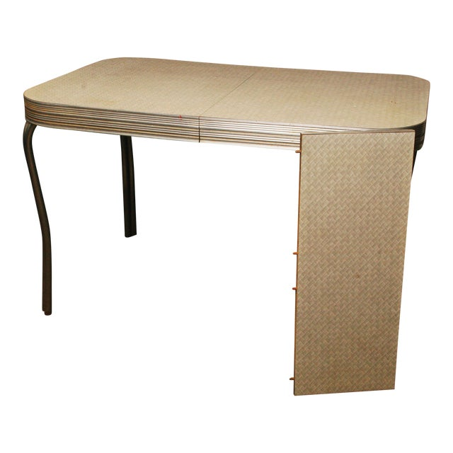 Mid-Century Modern White Formica Dinette Table - Image 2 of 12