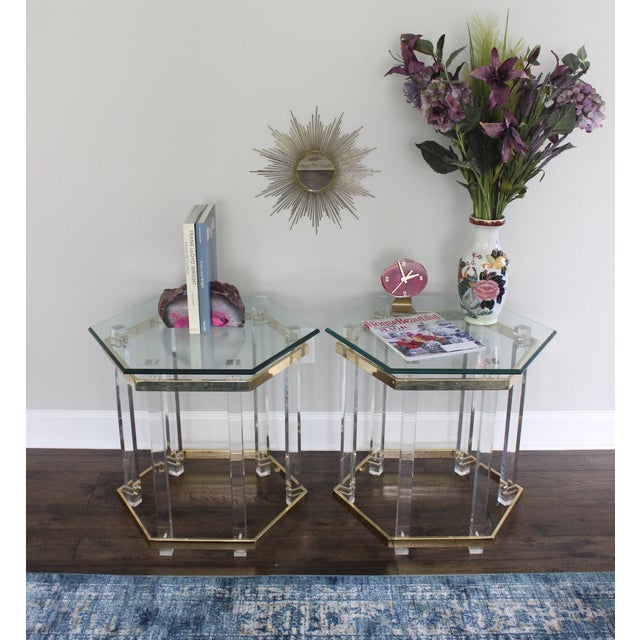 Charles Hollis Jones Style Lucite Tables - A Pair - Image 3 of 10