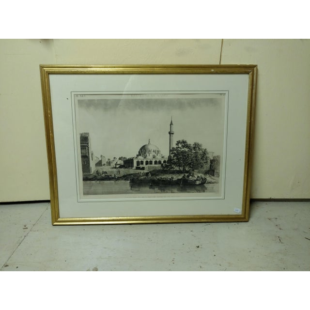 """Antique Paris """"Egyptian Mosque"""" Engraving Print For Sale - Image 13 of 13"""