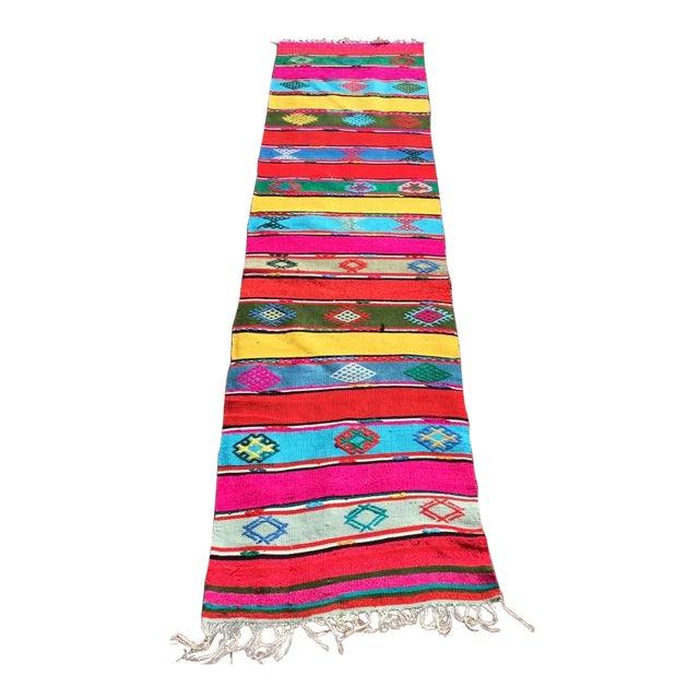 Colorful Turkish Kilim Rug For Sale