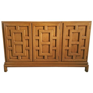 Asian Modern Three-Door Cabinet by Renzo Rutili 1960s For Sale