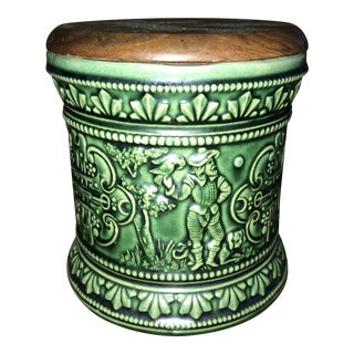 Vintage German Tobacco Jar For Sale