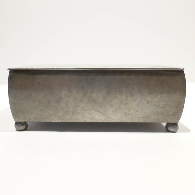 1920s Modernist Footed Pewter Box by Just Andersen For Sale - Image 5 of 8