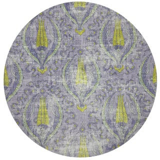"Nicolette Mayer Byzantine Jewel Lilac 16"" Round Pebble Placemat, Set of 4 For Sale"