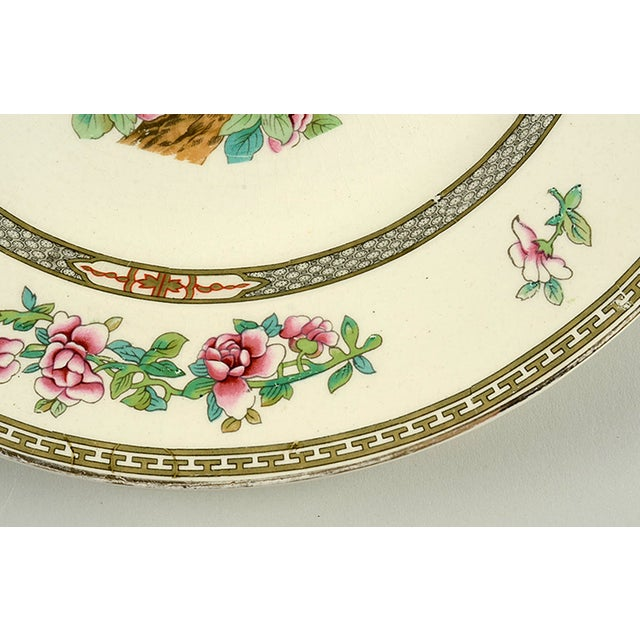 """Cottage Crown Ducal Indian Tree 12"""" Round Platter For Sale - Image 3 of 6"""