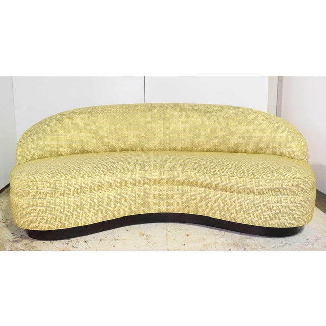Custom Kidney Shaped Sofa With Kravet Fabric For Sale - Image 12 of 12