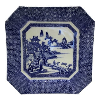 1860s Japanese Blue and White and Charger Plate For Sale