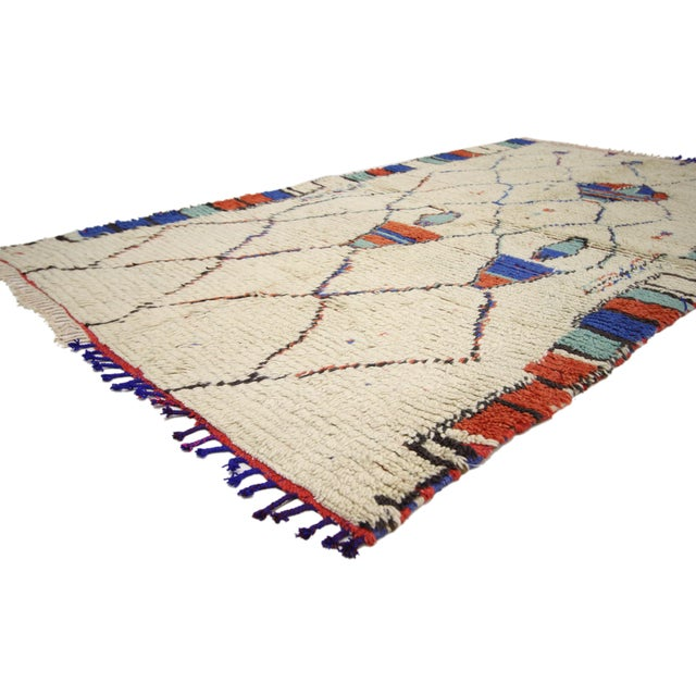 74433 Vintage Moroccan Rug, Berber Moroccan Azilal Tribal Rug. Transform nearly any room into a Moroccan delight with this...