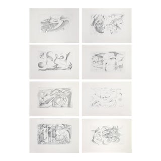 """1920 Franz Marc Lithographic """"Sketches From the Field"""" Cubist Animal Prints - Set of 8 For Sale"""