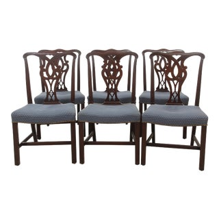 Chippendale Style Dining Chairs, Set of 6 For Sale
