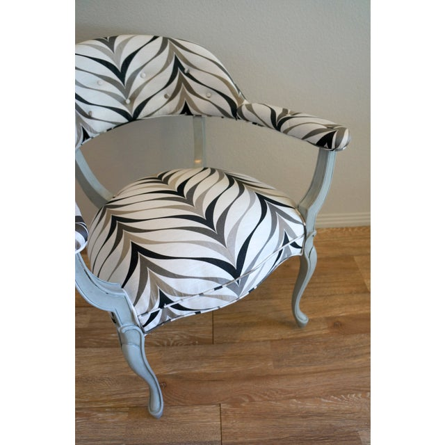 Vintage Art Deco Style Arm Chairs - Pair - Image 8 of 8