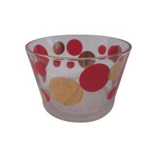 Retro Orange & Gold Disc Ice Bucket