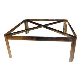 Chrome Steel Unusual Coffee Table