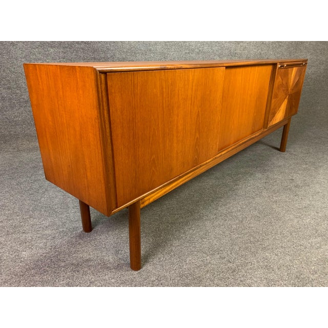 "A. H. McIntosh & Co. Ltd. 1960s British Mid Century Modern McIntosh Teak ""Sunburst"" Credenza For Sale - Image 4 of 11"