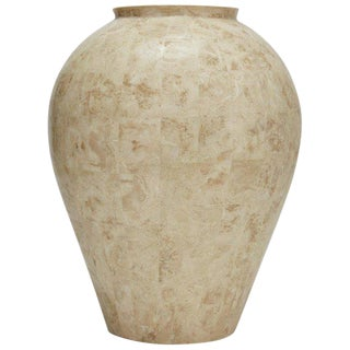 1990s Contemporary Tessellated Cantor Stone Mango Jar For Sale