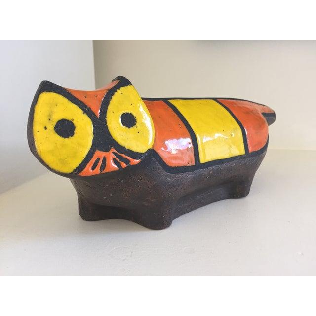 Vintage Ceramic Stoneware Cat Sculpture - Image 4 of 9