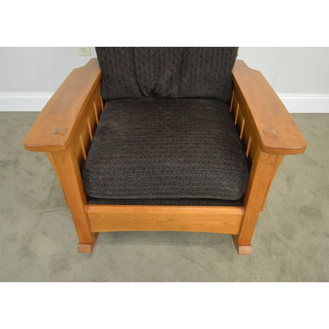 Black Stickley Mission Collection Solid Cherry Rocker For Sale - Image 8 of 13