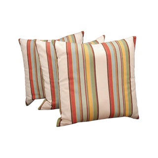 Contemporary Striped Pillows - Set of 3 For Sale