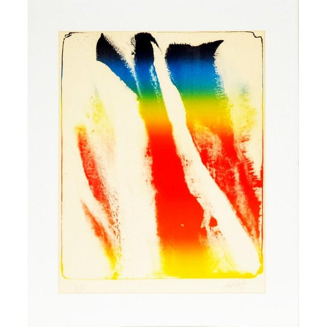 "Acrylic Paul Jenkins ""Untitled "" 1973 Limited Edition Abstract Lithograph Print For Sale - Image 7 of 7"