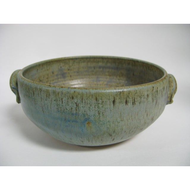 1970s Mid Century Modern Studio Pottery Bowl For Sale - Image 4 of 13