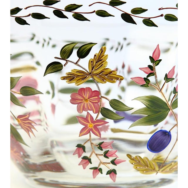 Vintage Hand Painted Glass Bowl - Image 4 of 8