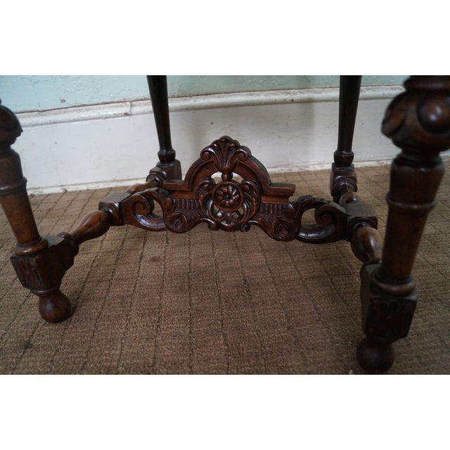 Antique Carved Renaissance Highback Side Chair For Sale - Image 7 of 10