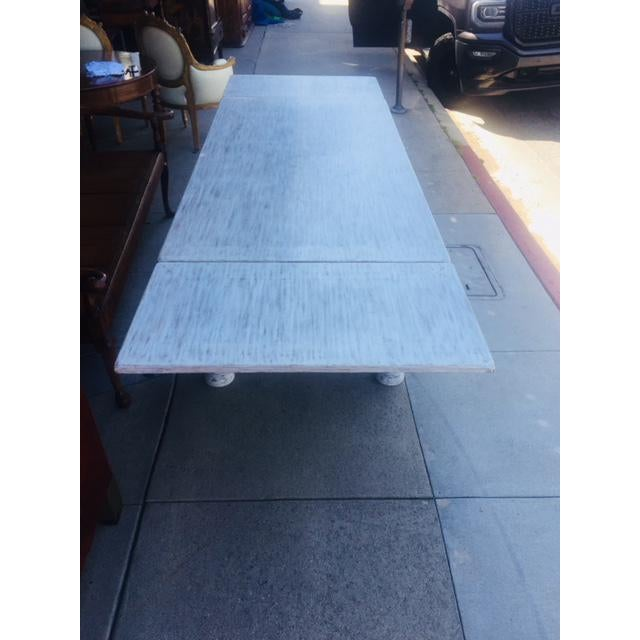 Vintage Carved Wood Refectory Table With Sliding Leaves For Sale - Image 10 of 13
