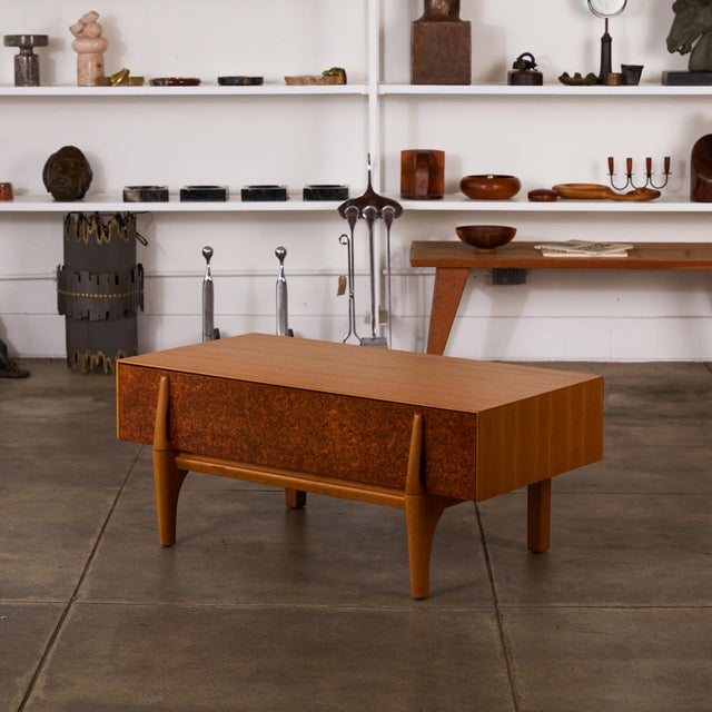 Single Bench With Storage by John Keal for Brown Saltman For Sale - Image 12 of 12