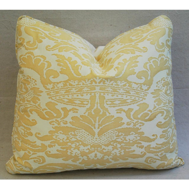 Mariano Fortuny Italian Corone Crown Feather/Down Pillows - Pair - Image 4 of 10