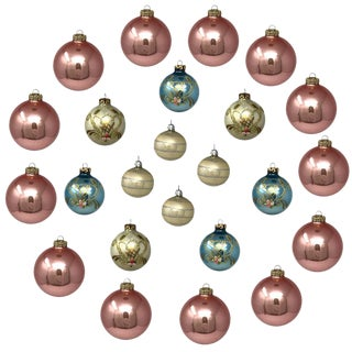 Vintage Italian & Polish Christmas Holiday Glass Ornaments - Collection of 24 For Sale