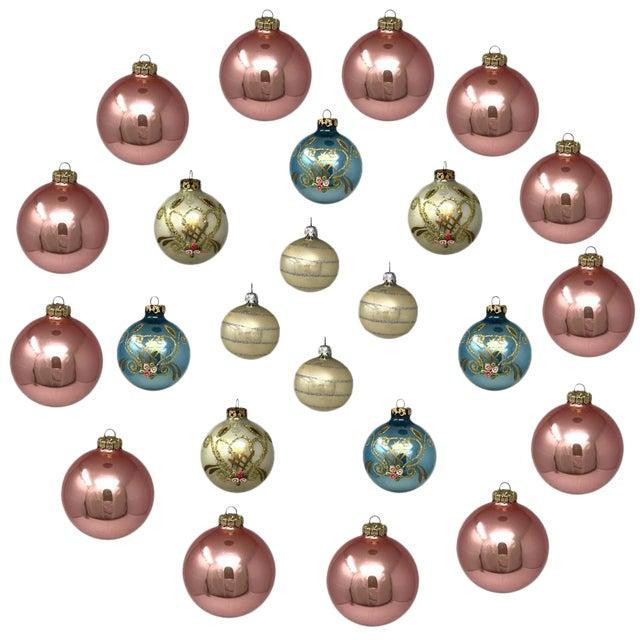 Vintage Italian & Polish Christmas Holiday Glass Ornaments - Collection of 24 For Sale