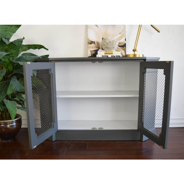 Wood 19th Century Traditional Gray and White Console Table For Sale - Image 7 of 9