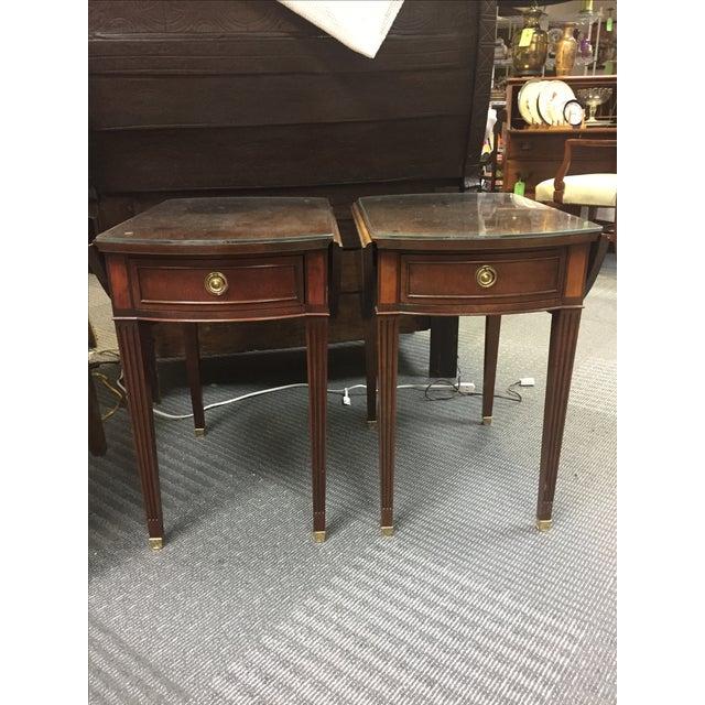 Baker Drop Leaf Side Tables - Pair For Sale - Image 7 of 8