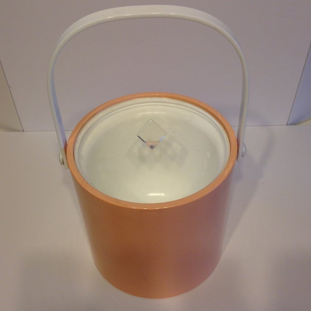 Peach And Lucite Ice Bucket - Image 5 of 5