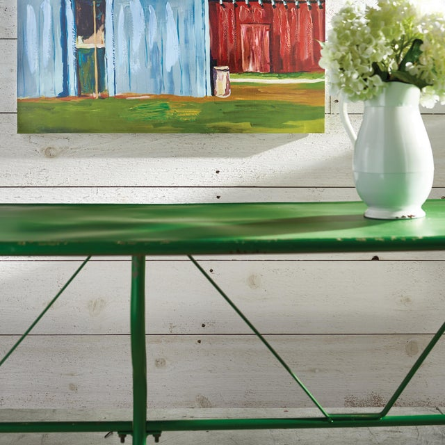 With a distressed metal finish and curvy legs, the Factory table is a nod to the old General Store. A stand out piece in...